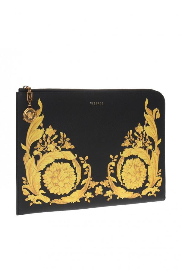 baroque motif clutch versace vitkac shop online. Black Bedroom Furniture Sets. Home Design Ideas