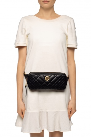 Branded quilted belt bag od Versace