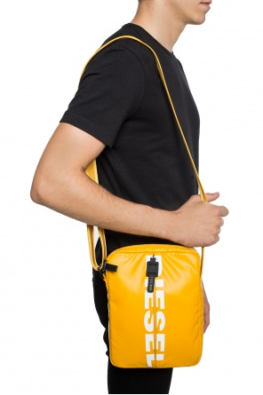 'f-bold small cross' logo-printed shoulder bag od Diesel