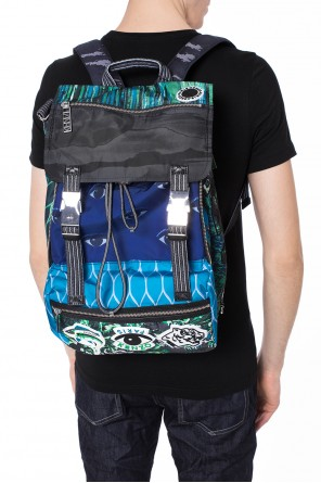 'multi icons' backpack with logo od Kenzo