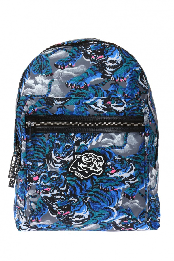 4a4f4346 Patterned backpack with patch Kenzo - Vitkac shop online