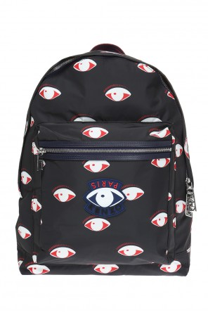 Patched patterned backpack od Kenzo