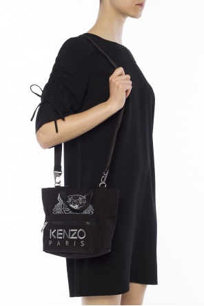 Embroidered tiger head shoulder bag od Kenzo