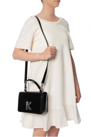 Shoulder bag with a decorative clasp od Kenzo