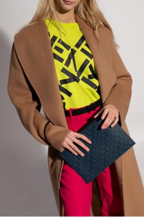 Leather clutch with logo od Kenzo