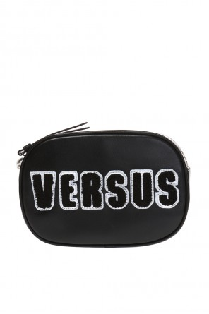 Leather waist bag with a logo od Versace Versus