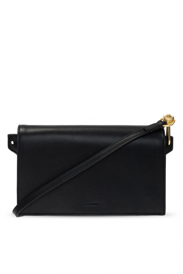 AllSaints 'Gold' wallet with strap