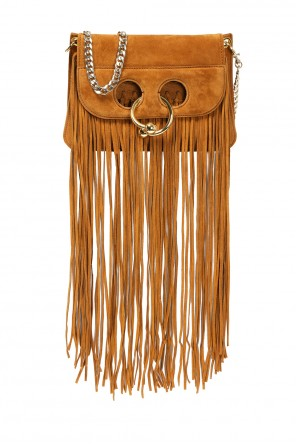 Fringed suede shoulder bag od J.W. Anderson