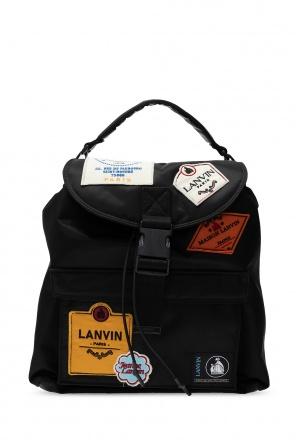 Branded single-shoulder backpack od Lanvin