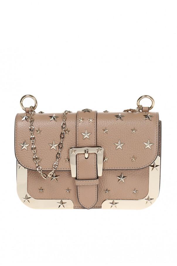 af8f03b0cfa7f Skórzana torba na ramię z ćwiekami Red Valentino - sklep internetowy ...