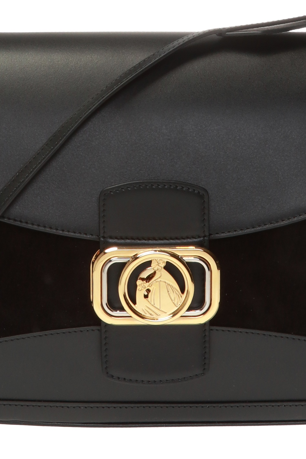 Lanvin Torba na ramię z logo 'Swan'