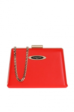 Leather clutch od Lanvin