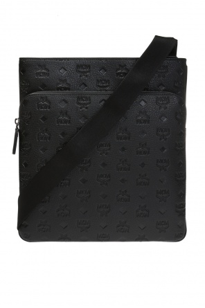 Shoulder bag with an embossed logo pattern od MCM