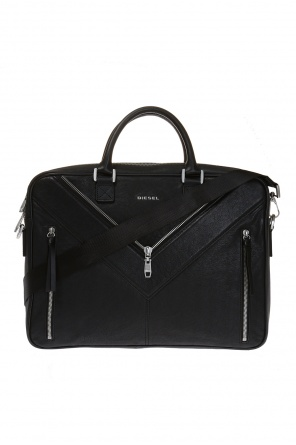 'mr. v-brief' briefcase od Diesel