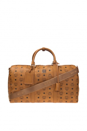 Carryall bag with a pattern and a logo od MCM