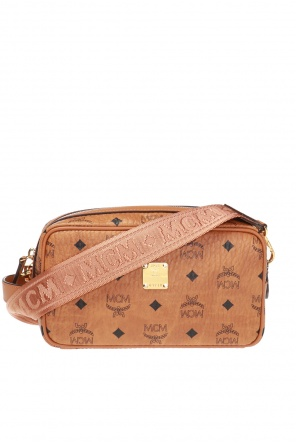 Logo-printed shoulder bag od MCM