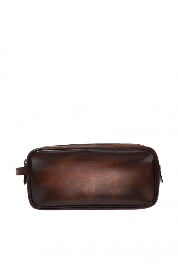 Leather wash bag od Berluti