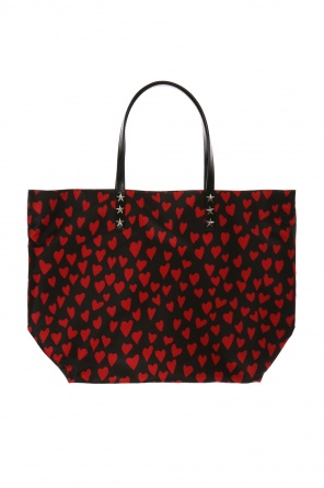 Heart-printed shopper bag od Valentino Red