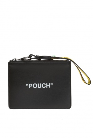 'pouch' printed double wash bag od Off White