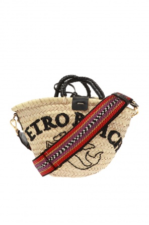 Woven straw shoulder bag od Etro