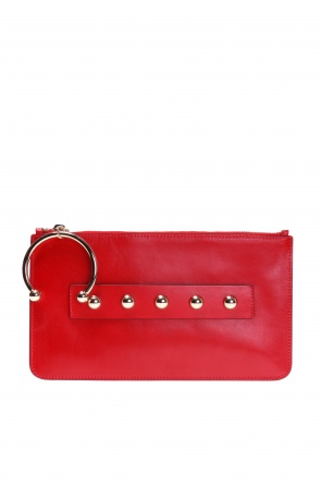 Clutch encrusted with studs od Valentino Red