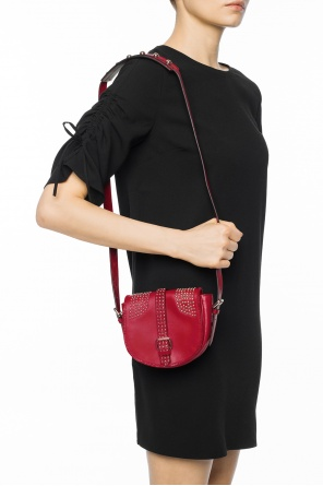 Shoulder bag encrusted with studs od Valentino Red