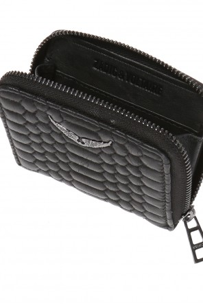 Quilted wallet with a decorative application od Zadig & Voltaire