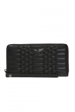 Quilted wallet with a wing-shaped application od Zadig & Voltaire