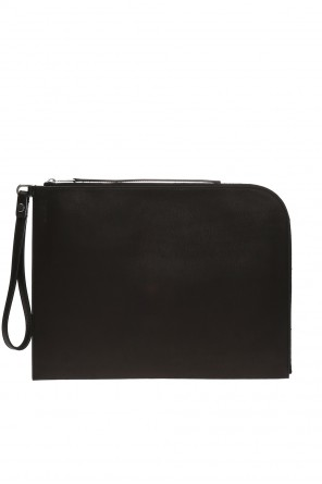Clutch bag with embossed logo od Rick Owens