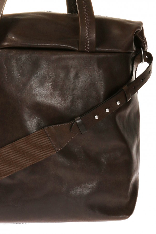 Leather shoulder bag with logo od Maison Margiela
