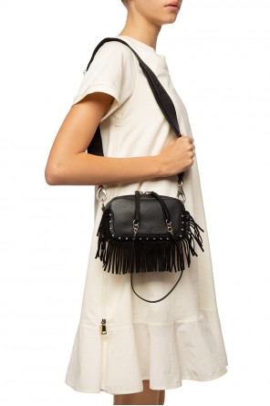 Shoulder bag finished with fringes od Dsquared2