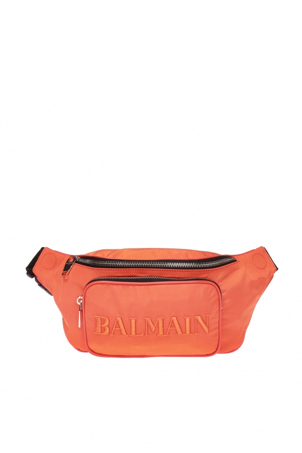 Logo-embroidered belt bag od Balmain