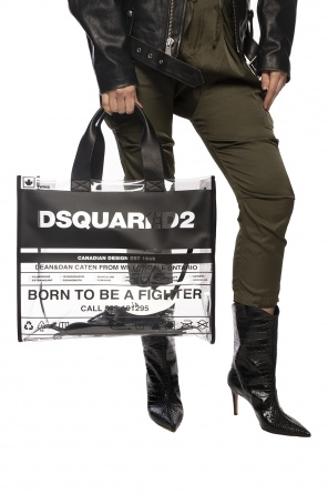 Translucent shoulder bag with logo od Dsquared2