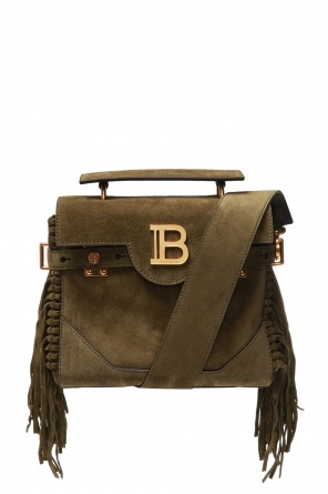 Suede shoulder bag od Balmain