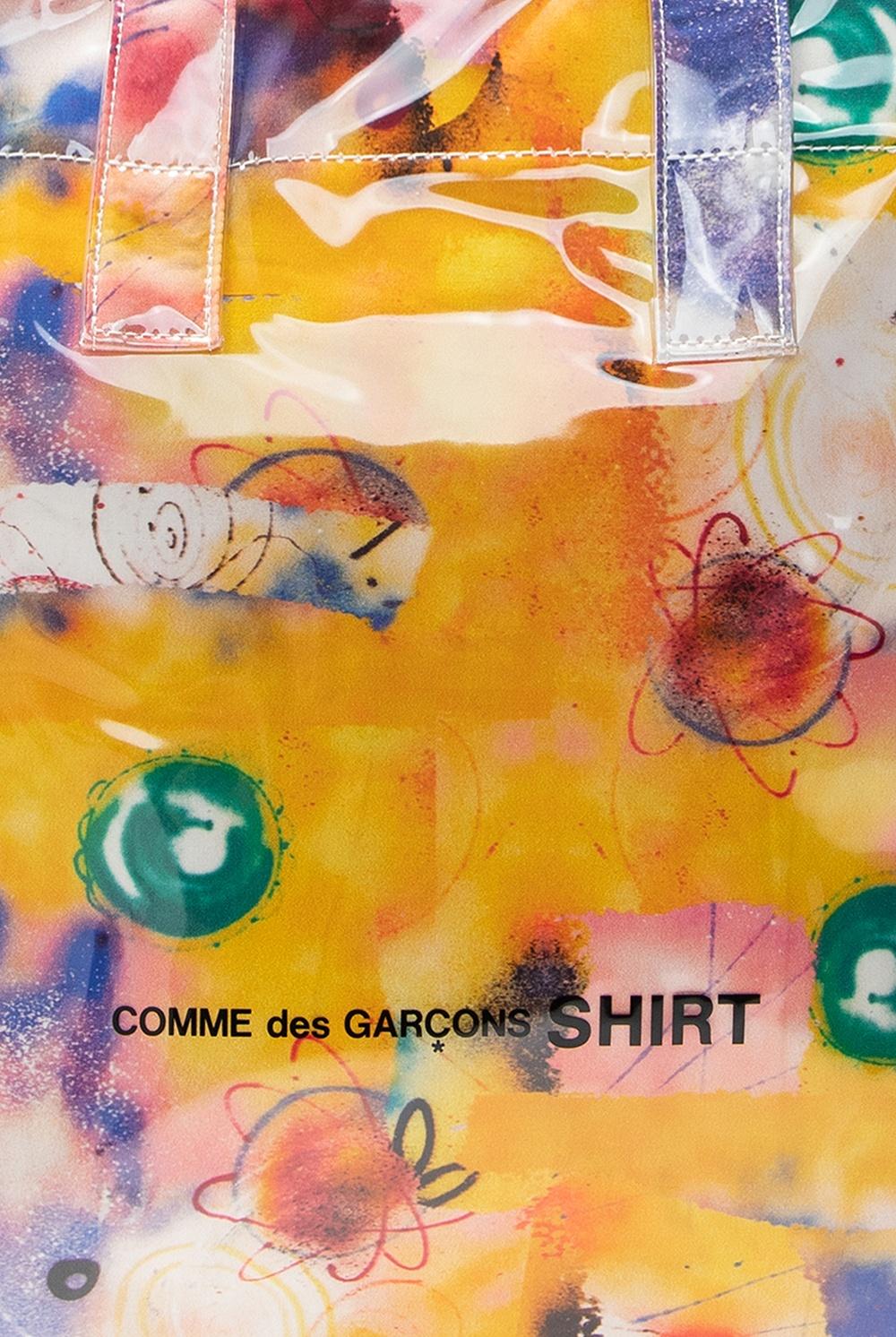Comme des Garcons Shirt logo托特包