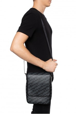 Logo-patterned shoulder bag od Emporio Armani