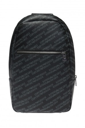 Branded one-shoulder backpack od Emporio Armani