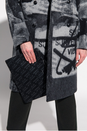 Handbag with velvet logo od Emporio Armani