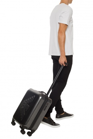 Suitcase with embossed logo od Emporio Armani
