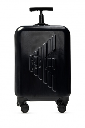 Suitcase with tactile logo od Emporio Armani