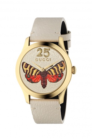 'g-timeless' watch with motif of moth od Gucci