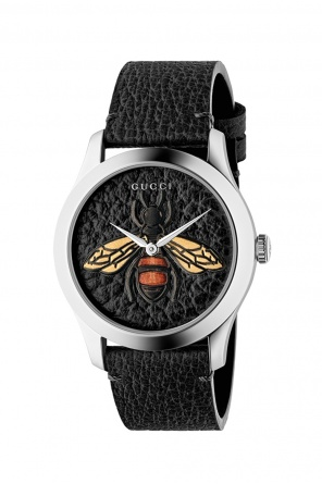 'g-timeless' watch with motif of bee od Gucci