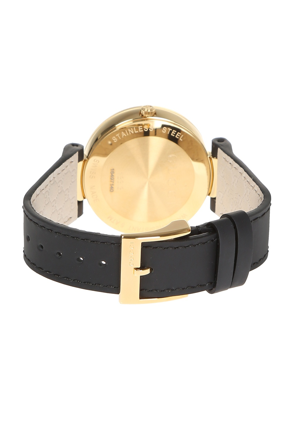 Gucci 'Interlocking' watch on leather strap