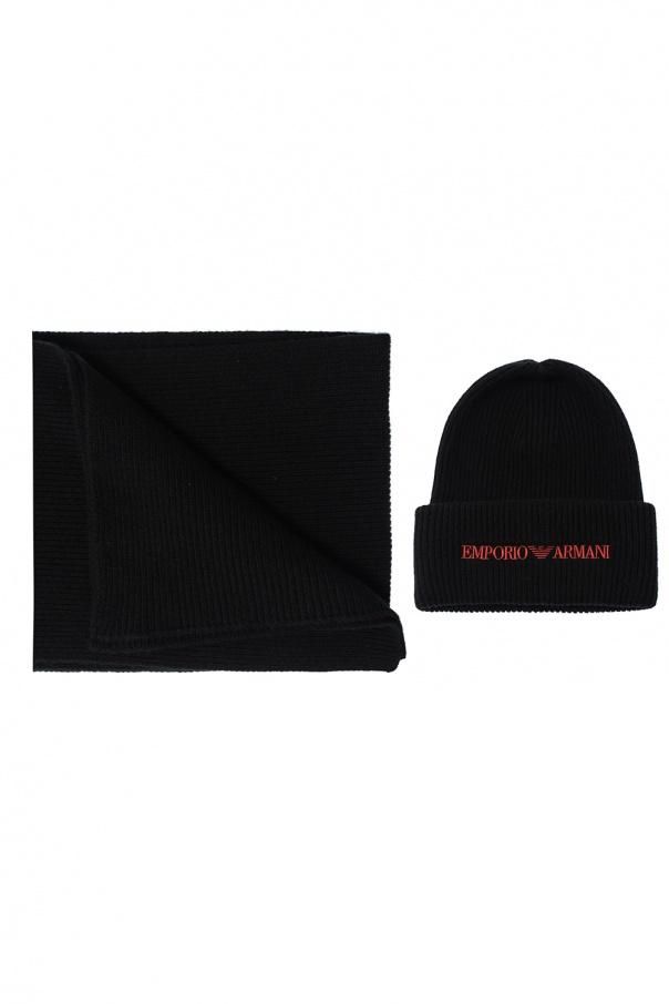 Emporio Armani Hat & scarf set