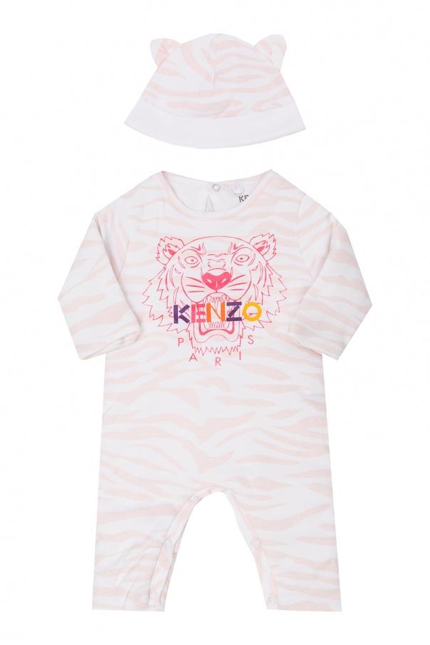 Kenzo Kids Cotton babygrow & hat set