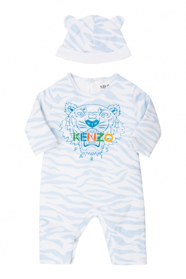 Kenzo Kids Cotton babygrow & hat set